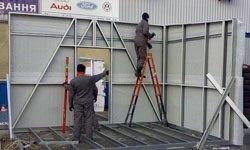 Строительство торговых павильонов в Перми БМЗ